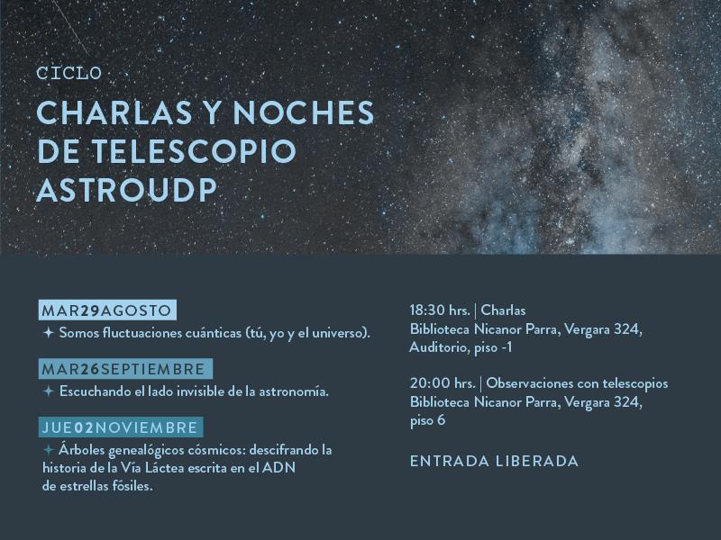 Ciclo Charlas y Noches de Telescopio #AstroUDP segundo semestre 2017