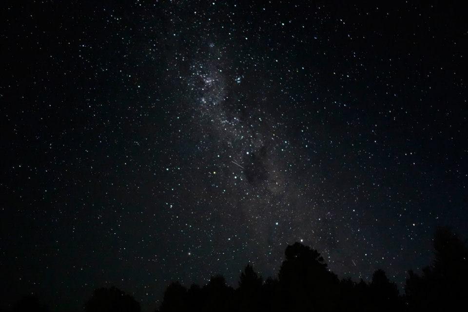 Vía Láctea, Cruz del Sur, Saco de Carbon y un satélite