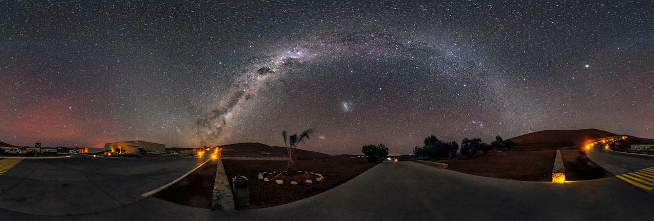 La vida sin polución lumínica: Vía Láctea sobre Paranal
