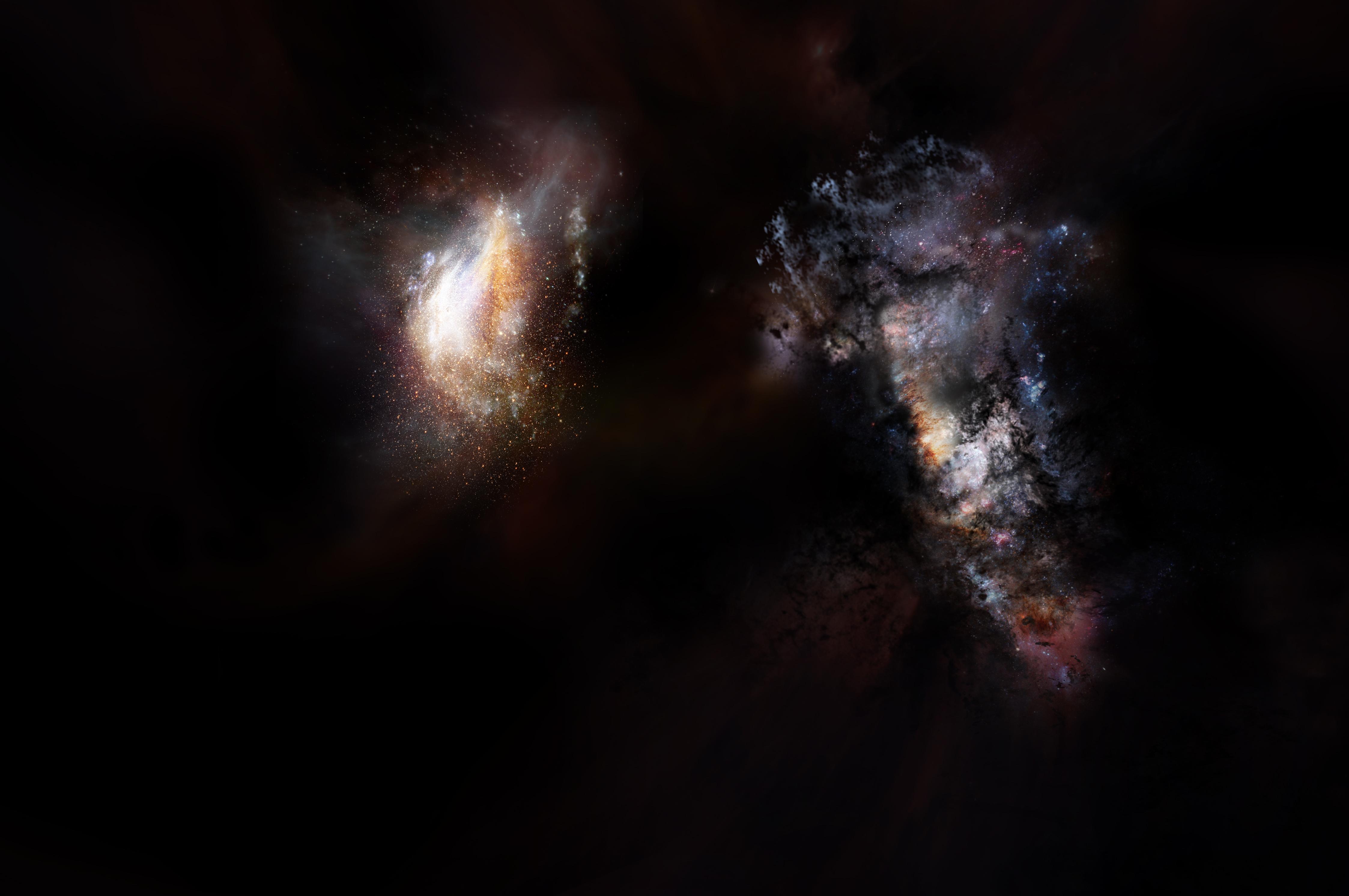 Descubren las galaxias más masivas conocidas en los primeros mil millones de años del universo