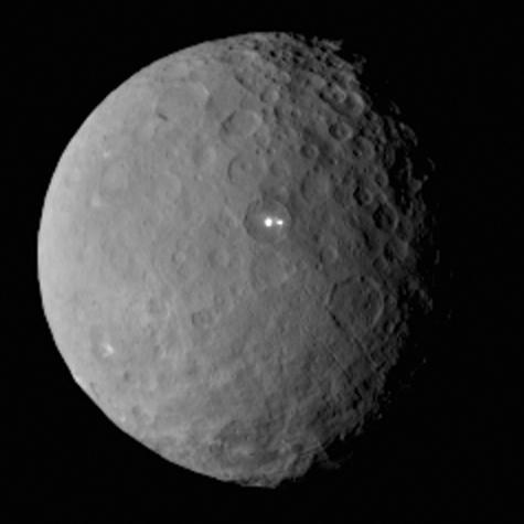Los puntos mas brillantes de Ceres se vuelven a ver