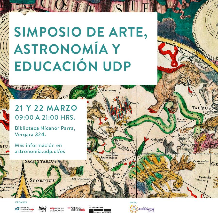 Simposio de Arte, Astronomía y Educación UDP: Anuncio