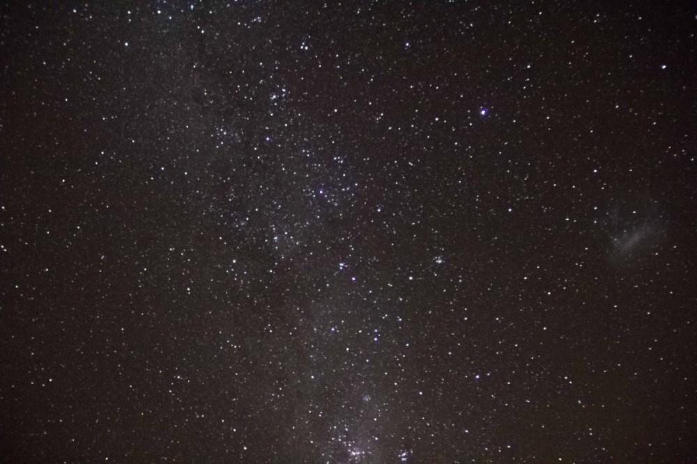 Vía Láctea y la Gran Nube de Magallanes