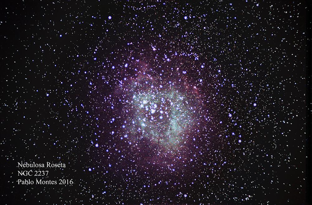 Nebulosa Roseta en la constelación de Monoceros