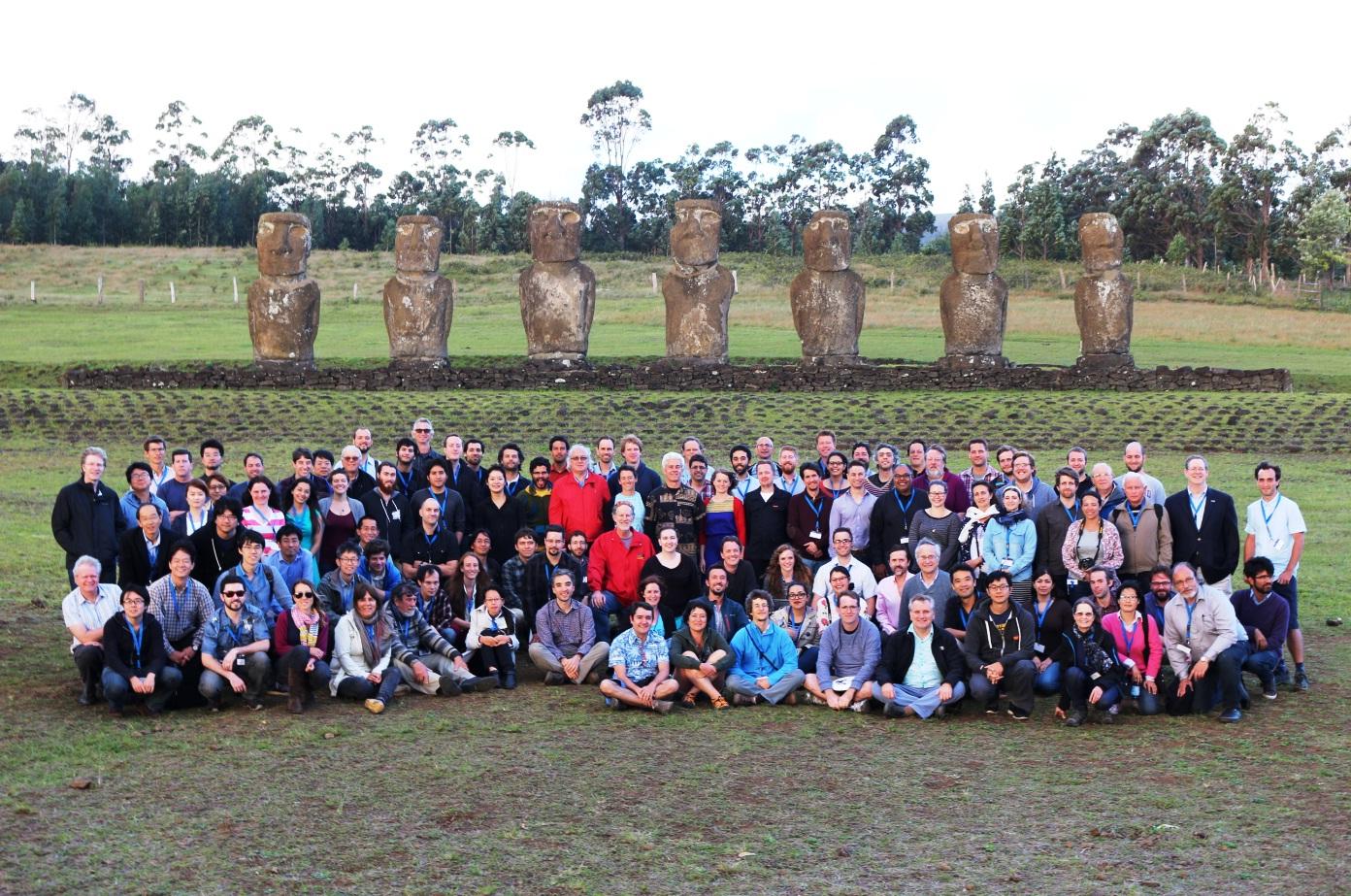 Núcleo de Astronomía participó en inédita conferencia internacional de astronomía en Isla de Pascua