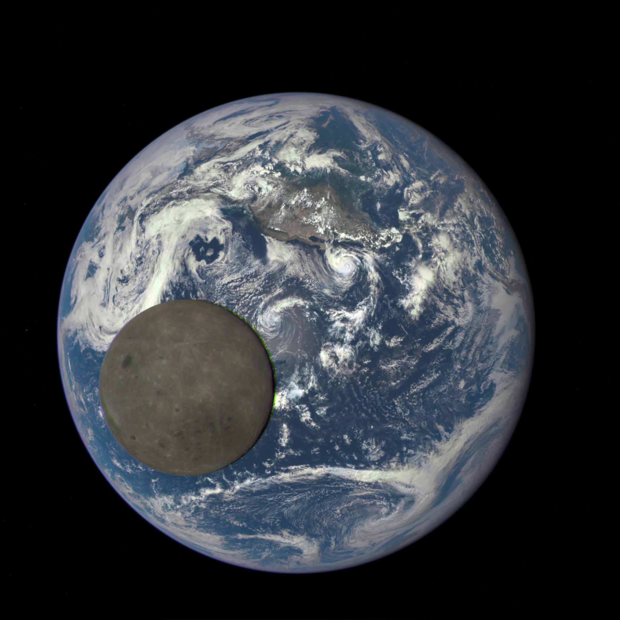 «Selfie» de la Tierra y la Luna