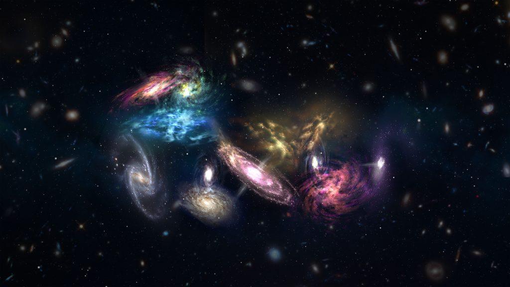 Astrónomos han sido testigos del inicio de una megafusión galáctica