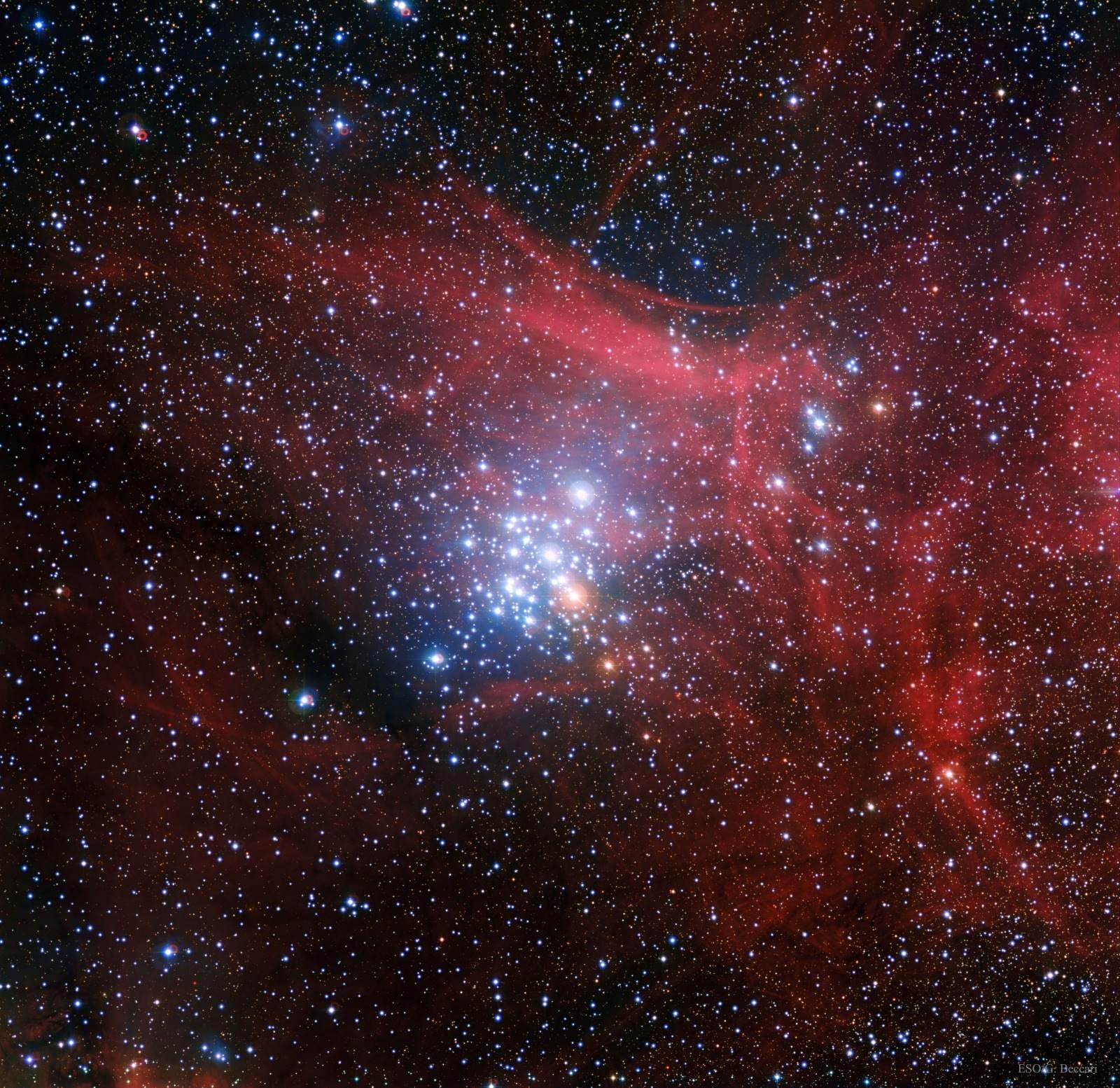 NGC 3293, cúmulo de estrellas jóvenes