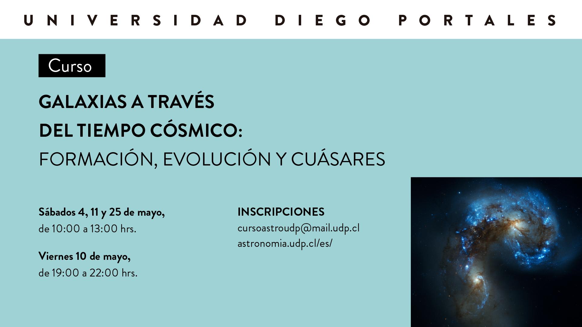 Curso [suspendido]»Galaxias a través del Tiempo Cósmico: Formación, Evolución y Cuásares»