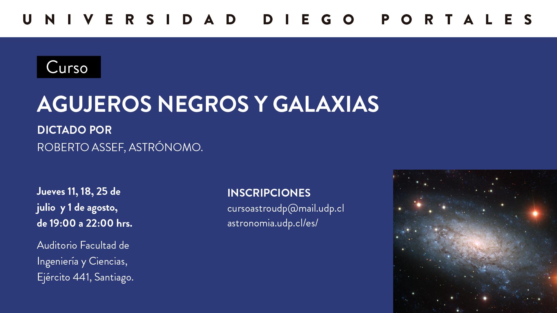 Curso Abierto «Agujeros Negros y Galaxias» por Roberto Assef