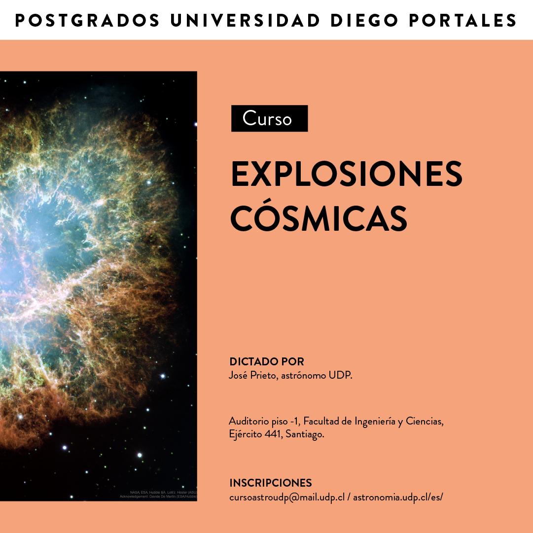Curso Abierto «Explosiones Cósmicas» con José Prieto
