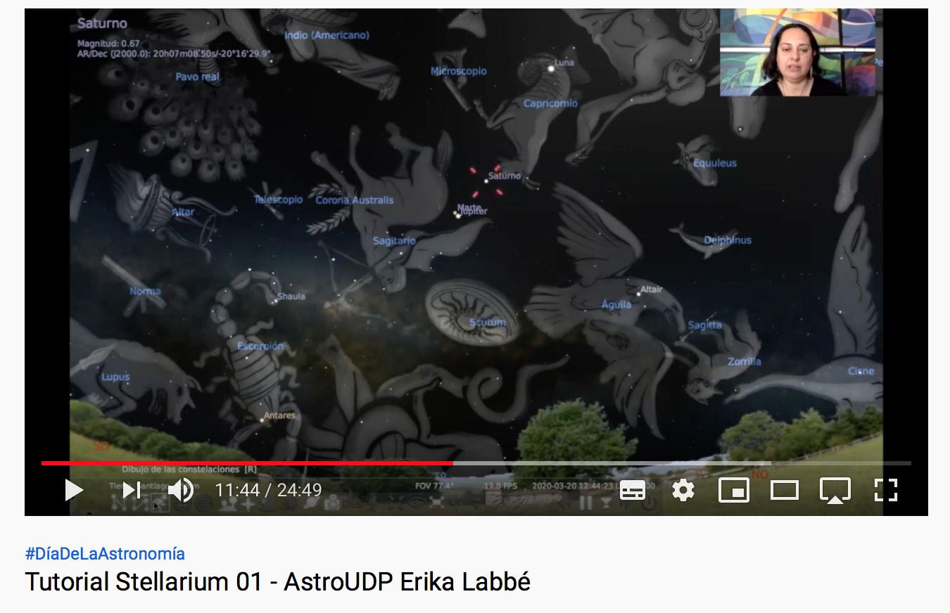 Astronomía en tu casa: Tutoriales de Stellarium