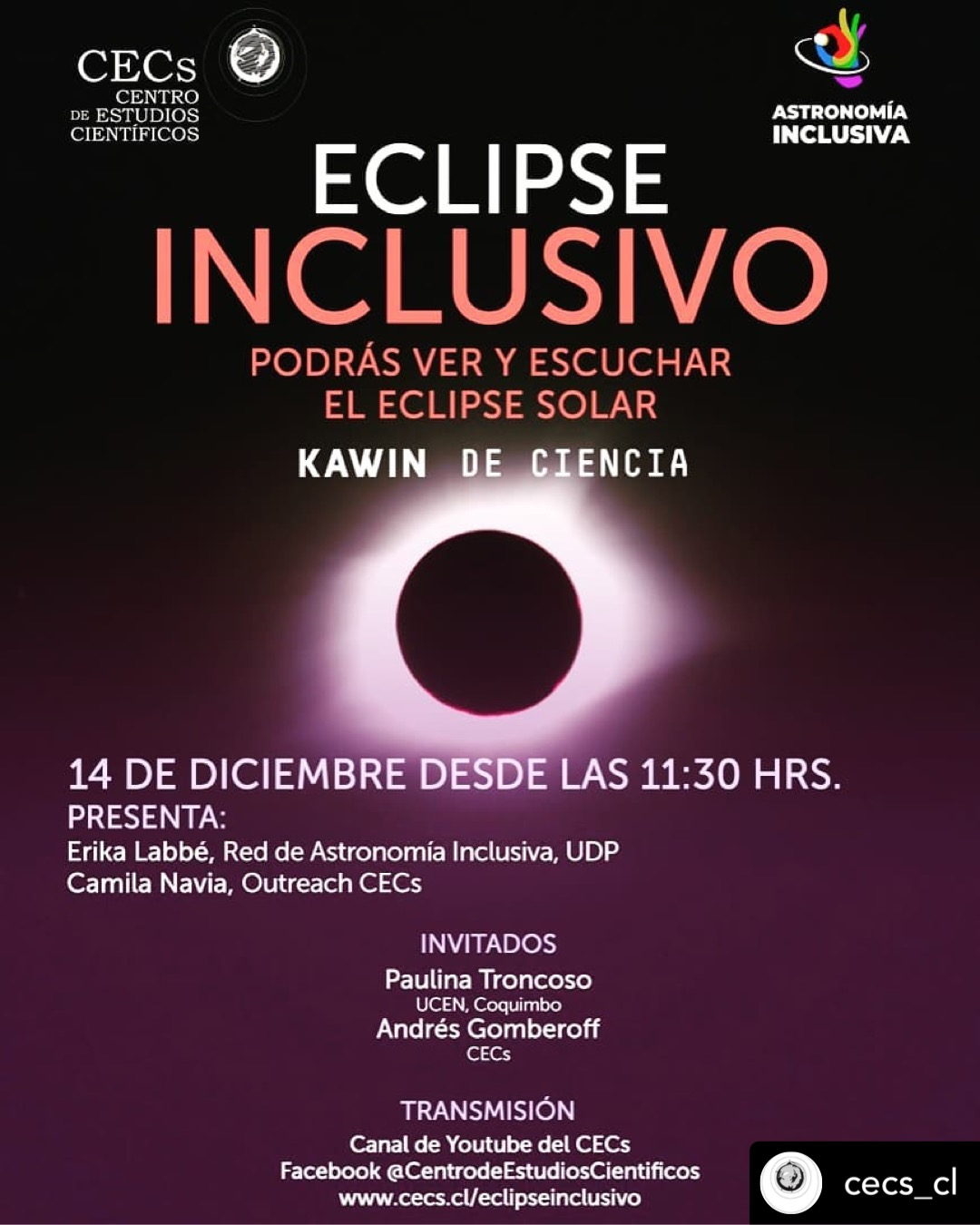 Transmisión en vivo Eclipse Inclusivo