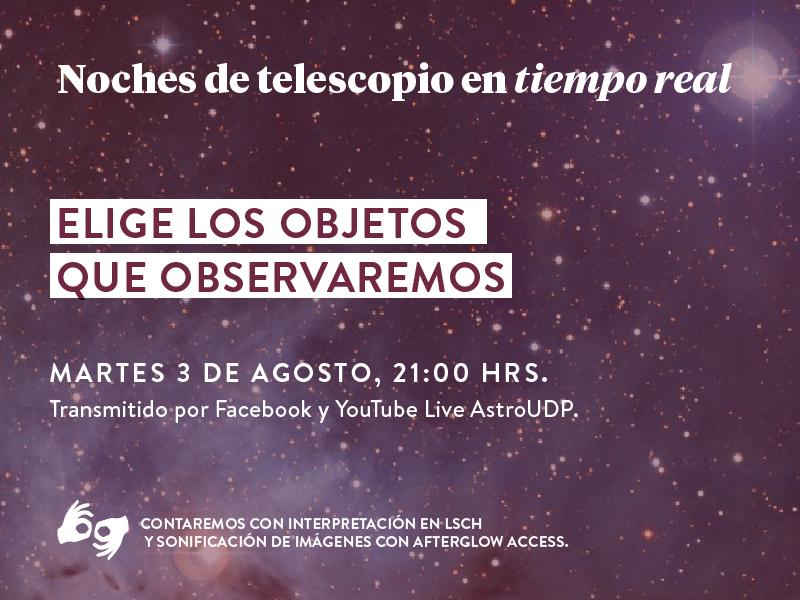 (Español) Noches de Telescopio en Tiempo Real con Sonificación.